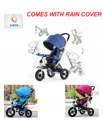 4 In 1 Kids baby Reclining Tricycle Trike Pushchair Buggy Stroller Pram 2 Colour