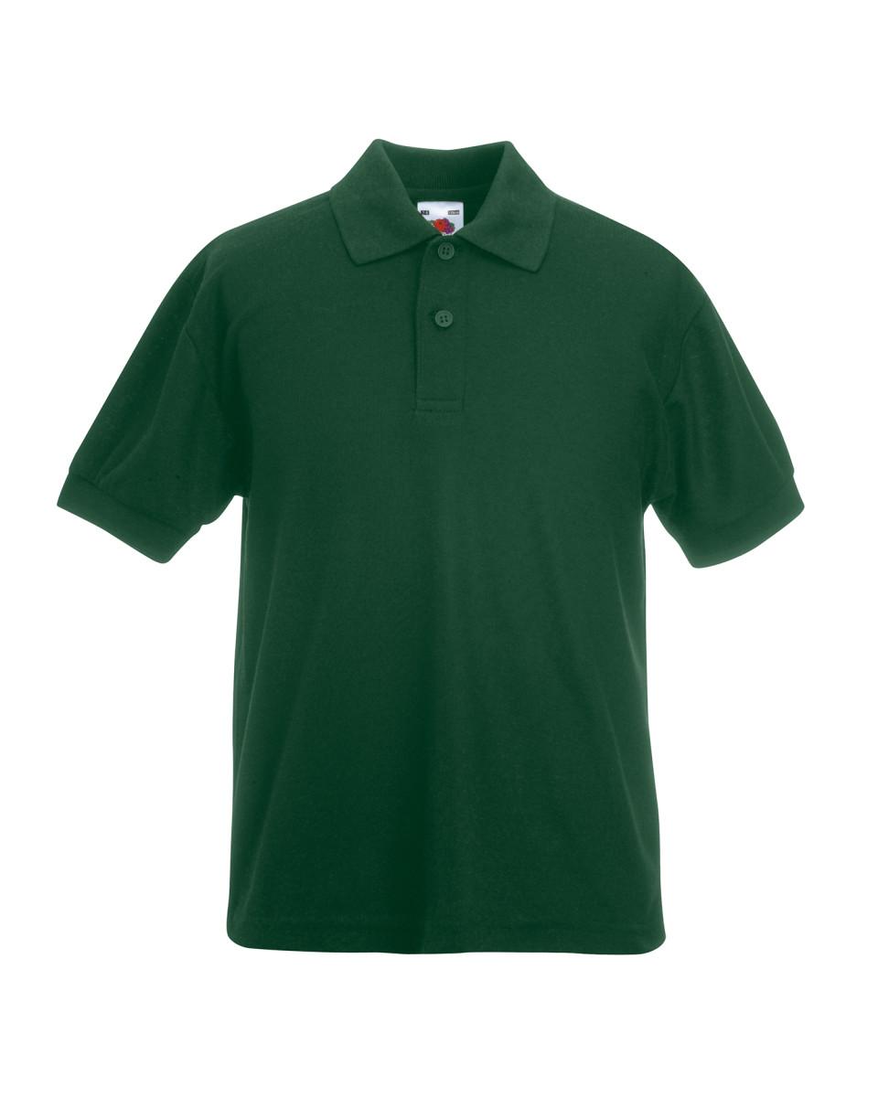 Kids Quality Polo Shirt Plain School Uniform Boys Girls Child Children Sky Blue