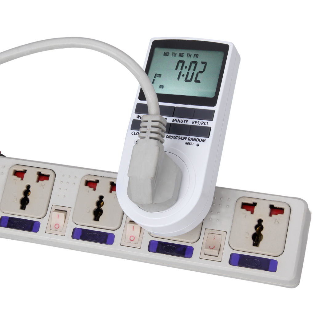 Programmable Hour Meter : Digital lcd display uk plug in programmable timer switch