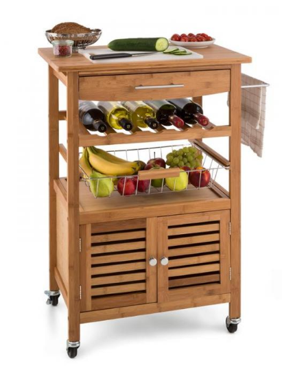 kitchen island trolley uk 3 tier portable bamboo wood kitchen trolley basket 5186