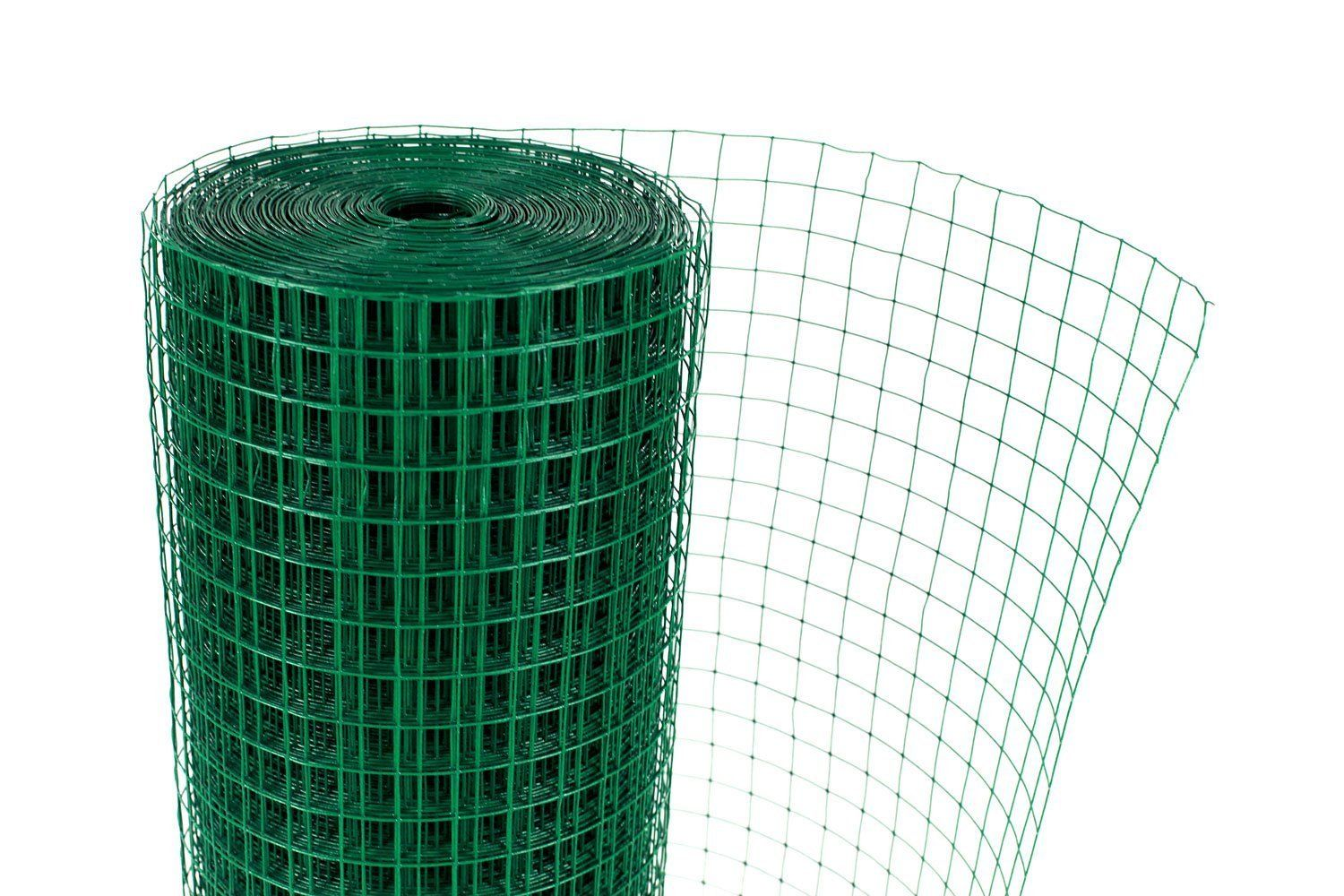 Green PVC Coated Welded Mesh Fence Wire For Garden Fencing Guard Barrier 4 Sizes