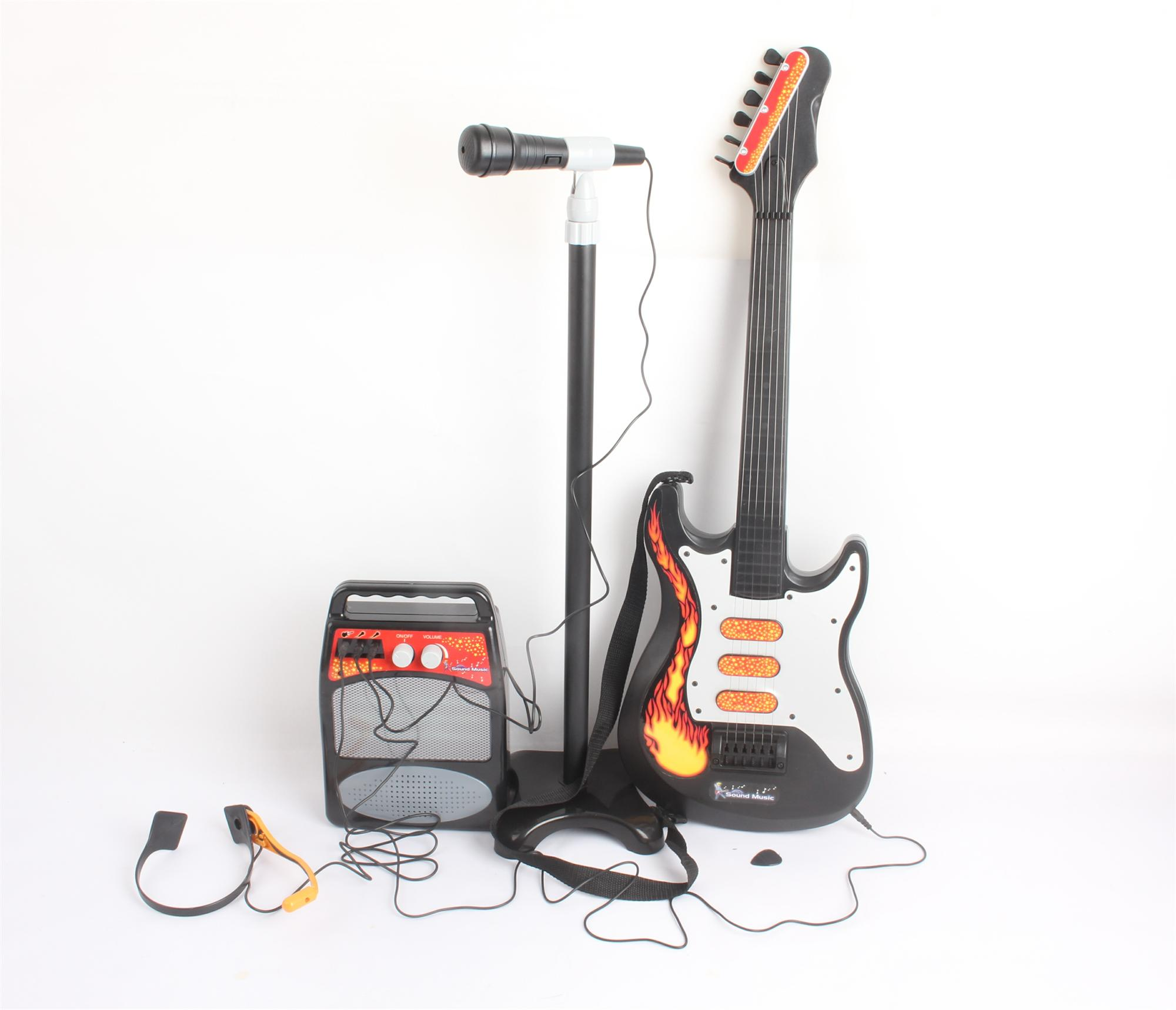 G4RCE Kids Children Toy Guitar Microphone Amplifier Set Karaoke