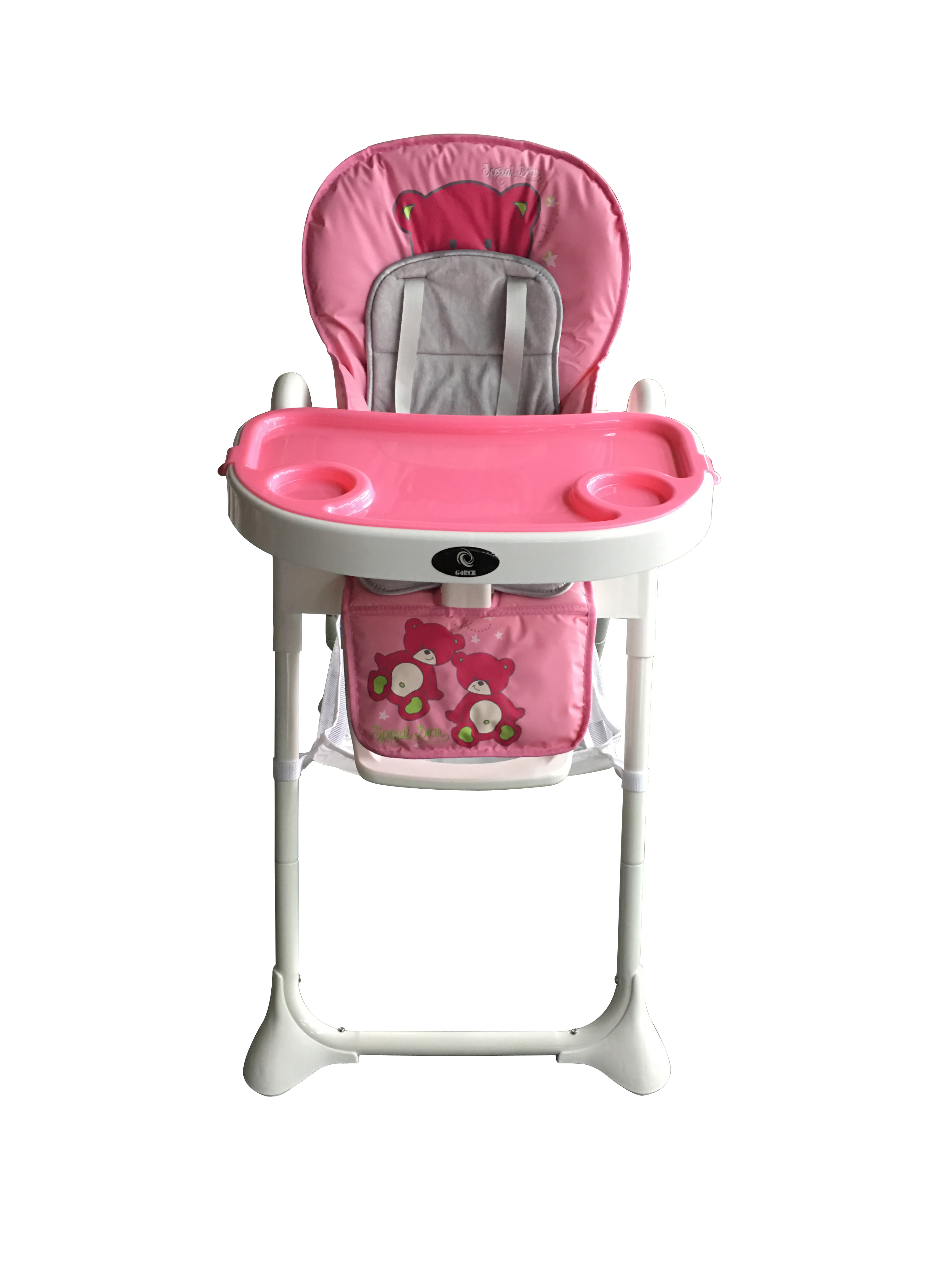 Pink G4RCE Foldable 3 in 1 Baby Toddler Child Kids Infant Highchair Feeding Recliner Adjustable Seat Chair in Pink /& Blue
