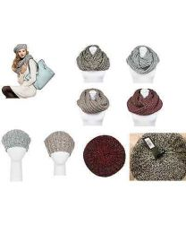 Pia Rossini Bethany Winter Beret Hat & Snood Scarf Set Neck Warmer Outdoor Wool