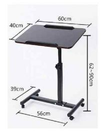 Portable Folding  Desk Laptop Table Bed Dinner Computer Lazy Quality MDF Top UK