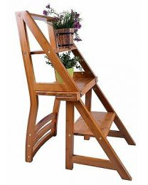 Folding Library Step Ladder Chair For Office Kitchen Home Use Fast UK Delivery