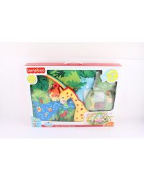 Boy Girl Baby Play Mobile Jungle Animals Gym Mat Lights & Music Birthday XMAS UK