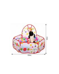 Boy Girl Indoor & Outdoor Play Tent Ball Pit Pool Basketball Hoop Xmas Birthday