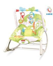 Unisex Baby Rocker Swing Reclining Chair Bouncer Lay & Play Hanging Toys 0M+