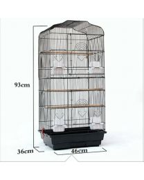 """37"""" Rooftop Metal Large Bird Parrot Cage For Canary Budgie Cockatiel 2 Colours"""