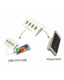 4 USB OTG HUB for Tablet, Mobile, PC & Laptop Mobile Tablet Dock Stand & Cable