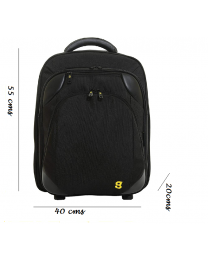 Gate8 Large Folding Travel Backpack Cabin Luggage Hand Carry Trolley Holdall
