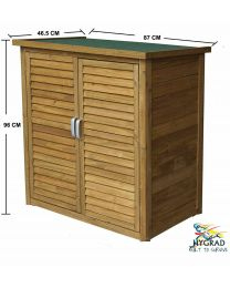 Large Portable Wooden Outdoor Garden Cabinet Shed Shelf Cupboard Storage Tools