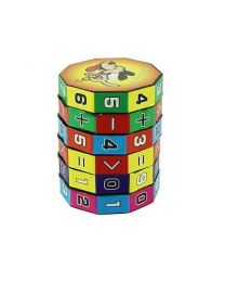 6 Layers Intelligent Puzzle Play Cube Number & Sign Children Fun Education Toy