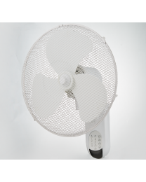 "White Oscillating 3 Speed 16"" Wall Mounted Home Office 40W Fan Remote Fast Ship"