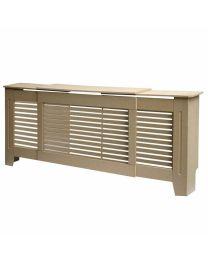 Natural Plain Wood Radiator Heater Cover Case Cabinet Grill Protector Horizontal
