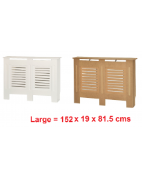 White/Natural Wood Radiator Heater Cover Case Cabinet Grill Protector Horizontal