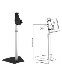 Universal Anti-Theft Tablet Holder Free Standing Kiosk For Ipad 2 3 4 Air Galaxy