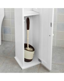 Toilet Roll Holder with Bathroom Storage cabinet Free Standing dual function UK