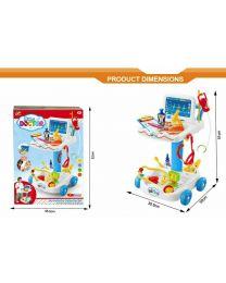 Kids Children Doctor Nurse Medical Trolley Pretend Role Play set Kit Toy Gift