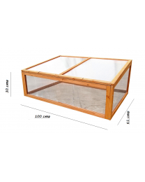 Wooden Outdoor Cold Frame Mini Garden Green Grow House Shelter Frame Plants Seed