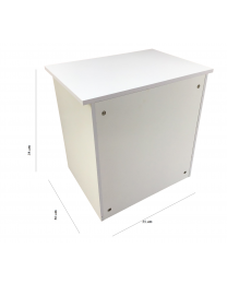 White Wood Extendable Floating Lift Top Bed Side Table Nightstand Desk 2 Drawers