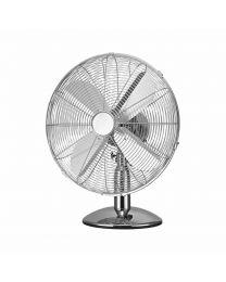 "G4RCE 16"" Electric Metal Oscillating Floor Standing 3 Speed Pedestal Remote Fan"