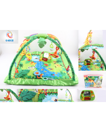 Boy Girl Toddler Play Mobile Jungle Animals Gym Mat Lights & Music Birthday Gift