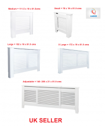 White Painted Wood MDF Radiator Heater Cover Case Cabinet Grill Protector Shelf