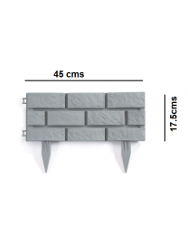 Brick Effect Lawn Path Walkway Plastic Hammer-In Garden Edging Border Fencing