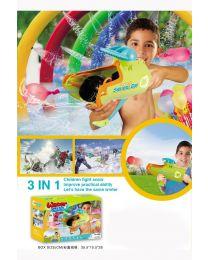 3 In 1 Water Balloon Snow Ball Throw Gun Pistol For Kids Children Toy Game Fun