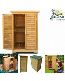 All Weather Portable Wooden Outdoor Garden Cabinet Shed Shelf Cupboard Storage