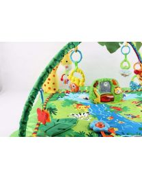 Large Baby Unisex Jungle Safari Play Mobil Mat Activity Centre With Toys & Light