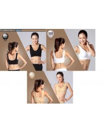 Branded Boody Eco Bamboo Organic Bodywear Basic Shaper Crop Sport Bra 3 Colours