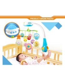 Premium Baby Newborn Cot Bed Car Crib Buggy Musical Toy Light Projector Gift UK