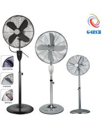 G4RCE 16'' Metal Oscillating Pedestal Floor Standing Fan Remote Control & Timer