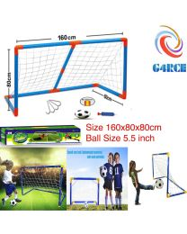Kids Child Mini Football Soccer Practice Goal Post Net Ball Toy Indoors Outdoors