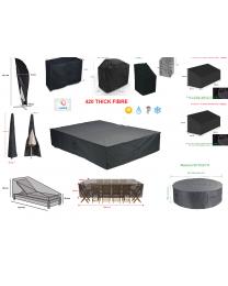 Heavy 420D Garden Furniture Parasol Chair Table Lounger Cube Sofa Bench Swing UK