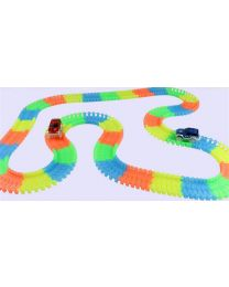 Kids Children Flexible Bendable Glow In Dark Car Race Track Set XMAS Gift Toy