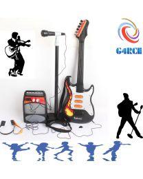 Kids Children Toy Guitar Mic Amplifier Set Karaoke Stand Sing Play XMAS Birthday