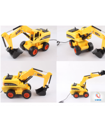 Popular Radio Controlled Kids Children Excavator Digger Tractor Truck Birthday