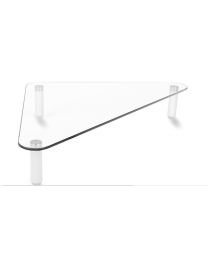 Triangle Glass Monitor Laptop Stand Living Room Centre Coffee Table Top Riser