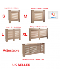 Natural Plain Wood Radiator Heater Cover Case Cabinet Grill Protector In 5 Sizes