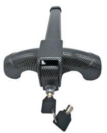 11Anti-Theft Retractable Car Auto Security Protection Steering Wheel Lock Black