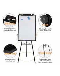 24'' x 36'' Inch Tripod Whiteboard Magnetic Standing Flip chart Easel Adjustable