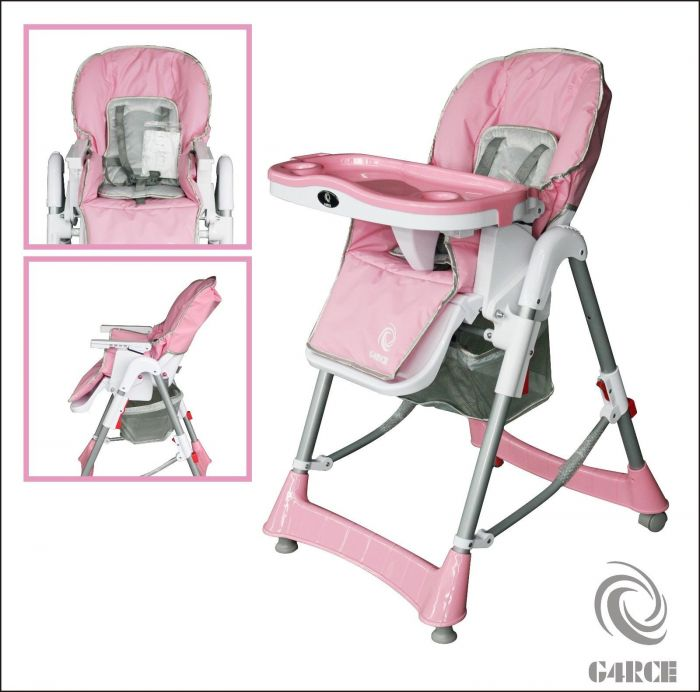 G4RCE Foldable 3 IN 1 Baby Toddler Infant Highchair Feeding Recliner Seat  Pink c8de0ce7cfd6